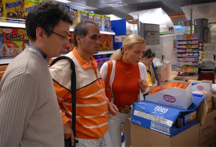 ира & Рубен Канаян перед открытием в супермаркета «Станем Друзьями» в ТЦ Семеновский, г. Москва